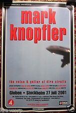 MARK KNOPFLER—2001 SWEDISH CONCERT POSTER