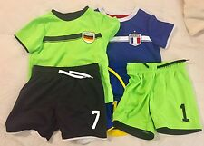 H&M Soccer Sportswear Size 2-3 Yrs Pre-owned 3 Shorts 2 Shirts