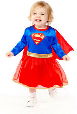 Toddlers Supergirl Fancy Dress Costume DC Comics Superhero Childs Girls Kids
