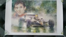 """Ayrton Senna """"ESTORIL 85' """" Limited Edition Art Print F1"""