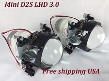 2x 76mm D2S HID PROJECTOR LENS BI-XENON W/O SHROUD LHD 76MM MINI