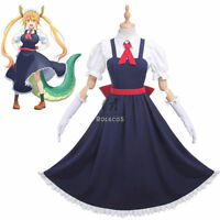 Miss Kobayashi's Dragon Maid Tohru Apron Dress Uniform Outfit Cosplay Costumes
