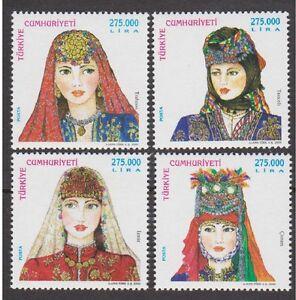 TURKEY 2000, TURKISH WOMEN TRADITIONAL HEAD COVERS 4, MNH