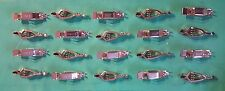 30 AMP ELECTRICAL NON-INSULATED STEEL ALLIGATOR SPRING CLIP LOT OF 20