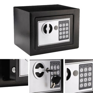 Electronic Password Security Safe Money Cash Deposit Box Office Home 4.6L New