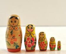 """5 Piece Russian Nesting Doll 3.25"""" Hand Painted Nice"""