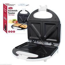 750 W Antiadherentes fácil de limpiar Eléctrico Blanco 2 Slice Sandwichera Toasties Maker