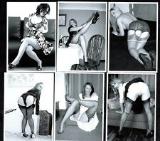 Housewives In Nylons Postcard Set 4 Pin-Up Stockings Glamour Sexy Ladies Retro