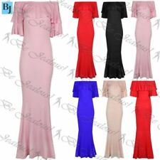 Short Sleeve Long Dresses for Women with Fishtail