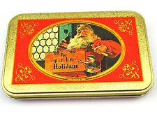 BELLA Coca-Cola lamiera LATTINA STAGNO SCATOLA USA anni '90 Santa con martello