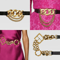 ZARA WOMAN NEW AW19 LIMITED EDITION LEATHER BELT WITH LINKS CAMPAIGN