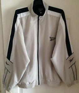 Reebok, Vintage 90's, Embroidered Logo, Full Zip, Oversize, Track Jacket, L