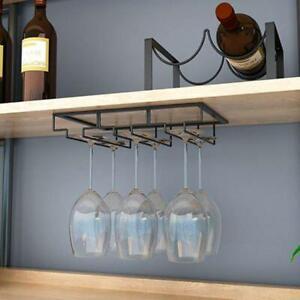 Wine Hanging Racks Rack Holder Glass Cup Stemware Shelf Mounted StorageOrganizer