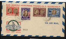 San Marino  Roosevlet cachet cover C51H  key stamp     KL0401