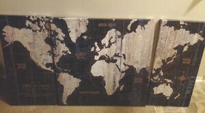 Canvas Wall Art World Map