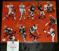 Kosar ++ Byner + Cleveland Browns Greats signed  BIG 11X14 PHOTO 9 SIGS +GAI COA