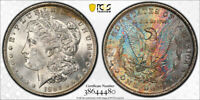 1884-O $1 Morgan Dollar PCGS MS63   Beautiful Colorful Old Album Rainbow Toning