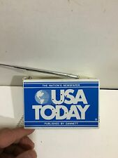 VINTAGE  NOVELTY USA TODAY RADIO AM(MW)- FM BAND FROM THE 1970s-1980s