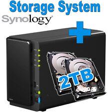 2TB (2x1TB) Synology Disk Station DS216 Netzwerkspeicher Gigabit NAS sichern