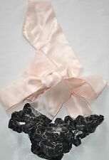 DAMARIS Bow-Back 'Bottom Cleavage' hand made Knicker briefs  Size One