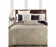 Hotel Collection Emblem 1 Standard Sham Tan Taupe Black