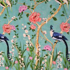 BORDE de tela de color turquesa 1 M Chinoserie por Metro Oriental Pájaro Floral