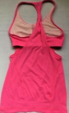 LULULEMON PRACTICE FREELY TANK TOP Pink Raspberry size 6 EUC Gym Yoga Spin