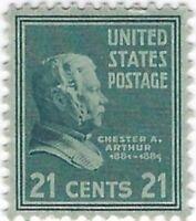 Scott # 826 Chester Arthur US Stamp  Unused OGNH