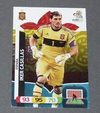 IKER CASILLAS ROJA ESPAGNE ESPAÑA FOOTBALL CARD PANINI UEFA EURO 2012