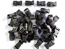 25 Black Plastic Side Release Buckle 20mm - fastenings,webbing,paracord etc