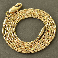 """Womens 14K Gold Filled Twisted Rope Long Chain Necklace 18"""" Vintage Jewelry"""