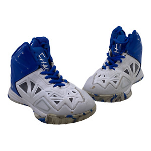AND1 Chaos Kids Boys 1.5 Blue White Basketball Sneakers Shoes High Top Athletic