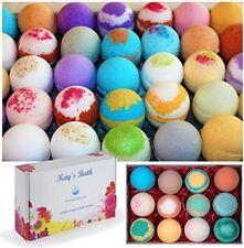Bath Bomb Fizzies Gift Set Box -12 Assorted Kays Bath - Spa, Shower, Shea butter