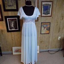 Vintage Light Blue Nylon Olga-Lon Olga Sweep Secret Hug Nightgown Style 19090 S