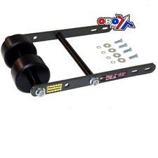 Tag-Z ATV/Quad Twin Roller Wheelie Bar - KFX LTZ LTR YFM - Black w/Gunmetal