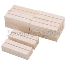 10x Pine Wood Wedding Table No. Stand Place Name Memo Card Photo Postcard Holder
