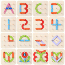 Geometric Shape Column Set Number Assembled Puzzle Development Kids LH