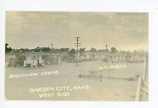 Conoco Service Station RPPC Garden City KS Finney County Roadside Photo 1935