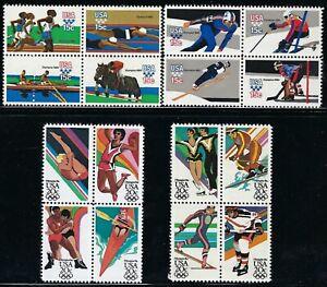 USA - MNH Blocks of 4 Stamps -  1979 & 1984 Olympics.........A-1008