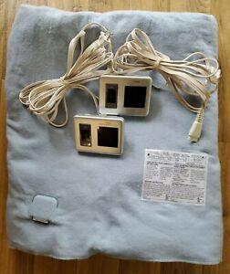 Biddeford Electric Fleece Blanket King Blue Dual Control