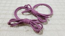 ONE PAIR ELASTIC PONYTAIL HOLDER KNOTTED DESIGN HAIR ACCESSORY DARK MAUVE