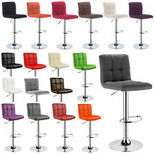 1 Tabouret de bar réglable 360°rotation Cuisine chaise en similicuir / Lin  f070