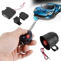 Car Auto Burglar Alarm Keyless Entry Security Siren System w/ 2 Remote Controls