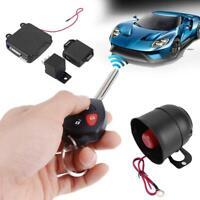 Car Auto Burglar Alarm Keyless Entry Security Siren System w/ 2 Remote Controls