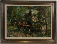 Attrib. Harry Fidler RBA (1856-1935) - Very Fine Late 19th Century Oil, Hay Cart