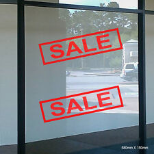 2 X SALE Sign Stickers Decals Retail Shop Window Promotional Signs (STKCN00027)