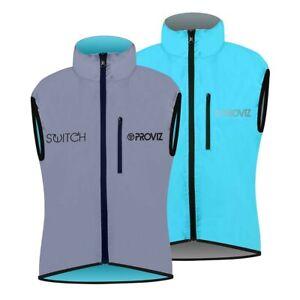 Proviz Switch Hi Viz Women's Cycling Gilet Light Blue / Reflective Hi Visibility