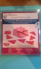 Spellbinders Die Grand Calibur Templates - Hexagon Pinwheel top box - EMboss cut