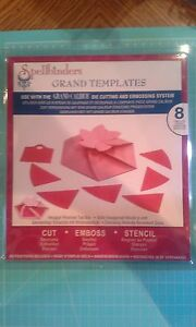 Spellbinders Die Grand Calibur Templates - Hexagon Pinwheel top box - EMboss cut