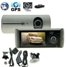 "GPS HD 720P 2.7"" Car DVR Vedio Recorder Dash Cam Night Vision Dual Camera Lens"
